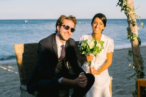 photographe mariage saint-tropez photos ceremonie laique plage