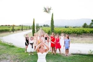 photographe mariage marseille, photo du lancé bouquet