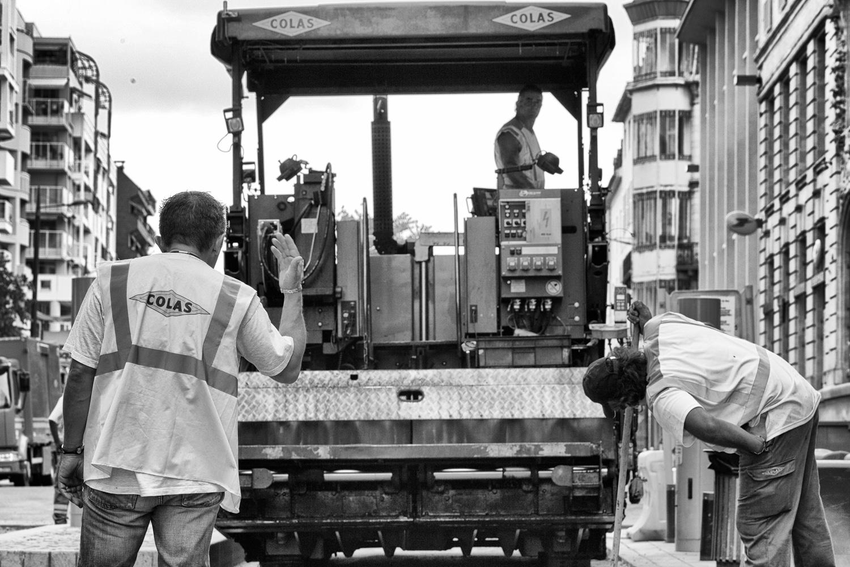 CHANTIER COLAS - RUE FOCH - PAU - 15 JUIN 2011
