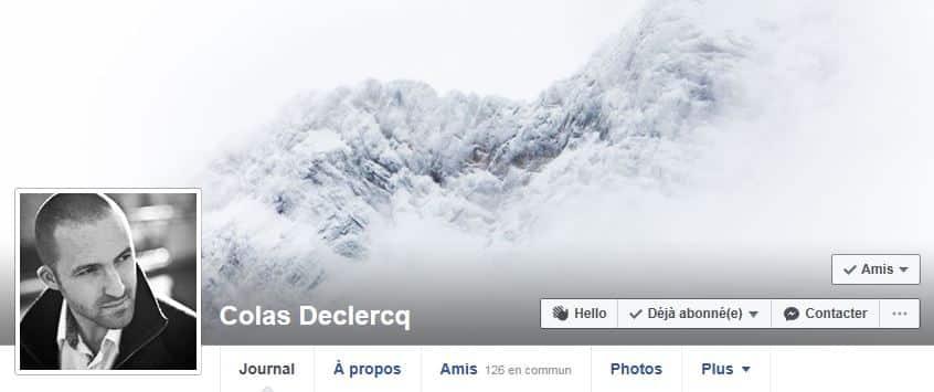 Suivez-moi sur Facebook - Colas Declercq