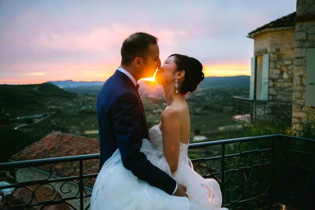 Photographe de mariage au Château des Costes