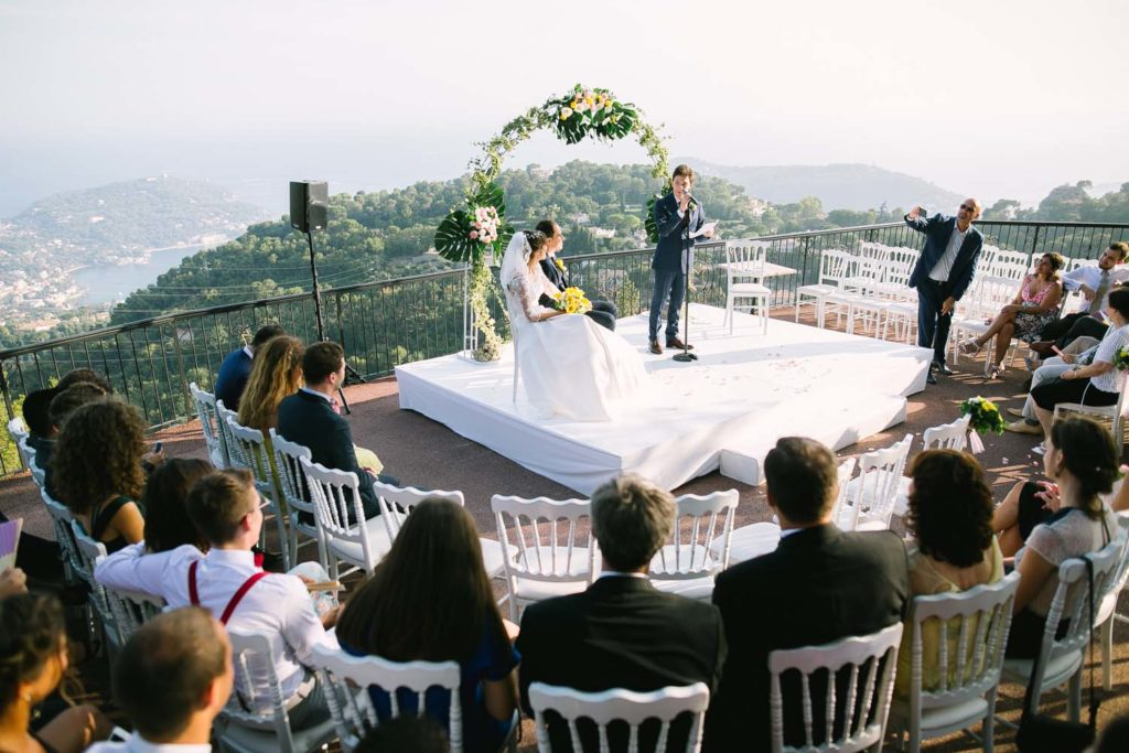 photographe de mariage au domaine de Mont Leuze à Villefranche-sur-Mer